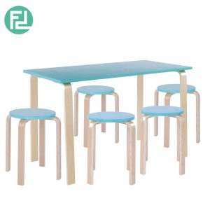 NEVY bentwood 4 seater dining set-Blue