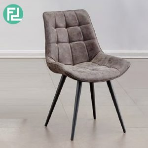ORAN vintage PU dining chair-Brown