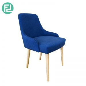 SANDISS dining chair with oak stained legs - custom colour