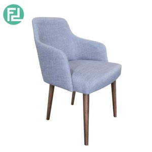 ZENDAI dining chair with cocoa stained legs - custom colour