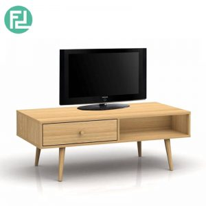 ADELLE Scandinavian style 4.5ft TV cabinet-full oak