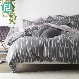GRESSY ZONE fitted 5 piece bedsheet bedroom set - queen size