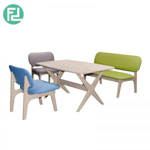 JAPANESE JA-4 dining set (1 seater + 1 seater + 2 seater + 1 table)-custom colour