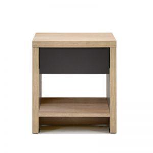 JAMIE oak color 1 drawer bedside table