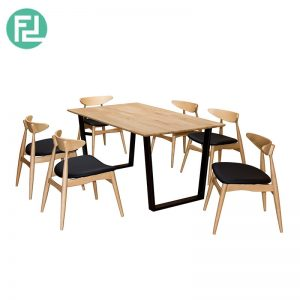 KINGSTON NICE DAY KND-3 dining set (1 table + 6 seater)-natural colour