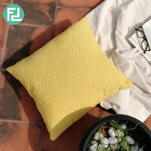 KIMMY 1A quilted gro cushion 45x45cm-custom colour