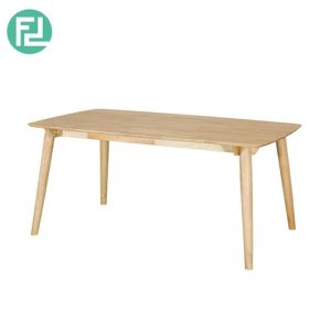 MIAMI MI-1A dining table 3' x 5'-natural wood & white colour