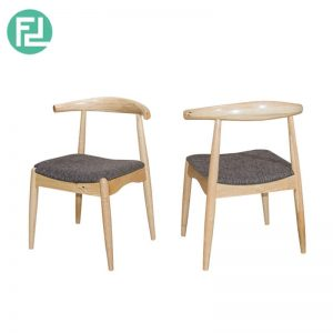 MIAMI MI-1B dining chair-natural wood & white colour