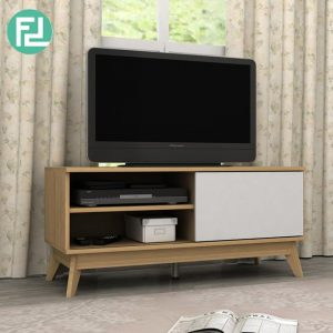 Clearance- NORTON 110cm TV cabinet organiser-oak