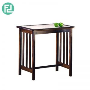TERRY TE-1 breakfast table-natural wood & wenge colour