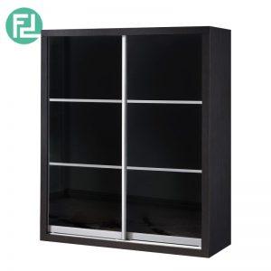 5 feet anti jump sliding door wardrobe (WD5216)- Wenge