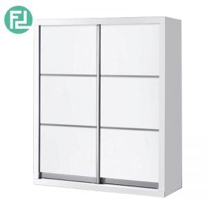 5 feet anti jump sliding door wardrobe (WD5216)- White