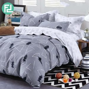 TRI-TREE fitted 5 piece bedsheet bedroom set - queen size
