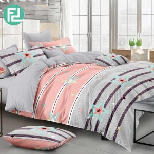 COLOUR STAR fitted 5 piece bedsheet bedroom set - queen size