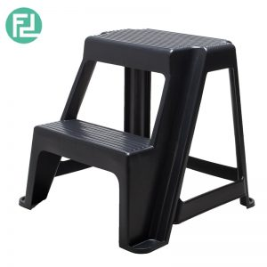 1622 Plastic step stool-Black