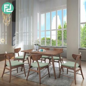 CLEMENTINE 6 seater dining set-Walnut