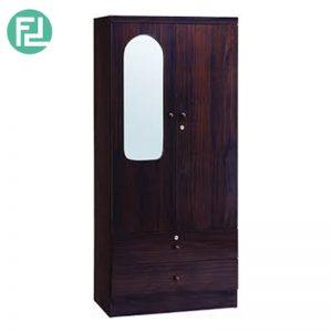 GORDON 2 door wardrobe with mirror- Capuccino