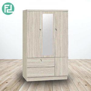 GORDON 3 door wardrobe with mirror-cappucino