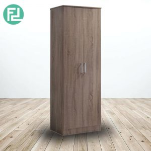 KINGSLEY 2 door wardrobe-walnut
