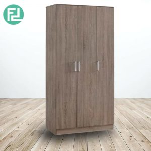 KINGSLEY 3 door drawers wardrobe-walnut
