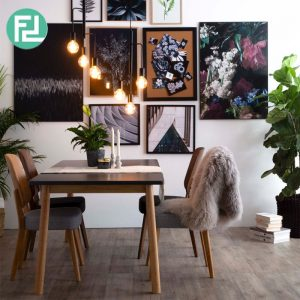 DAGEL 1.8m table with 4 MELISA chairs