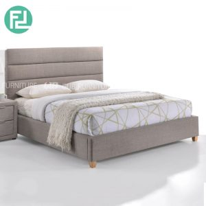 Clearance-SARA queen size bedframe-light grey (Last Unit)