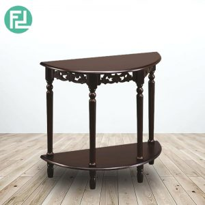TIM half moon console table-Cappucino