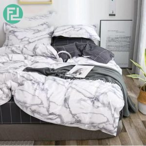 MARBLE fitted 5 piece 800 thread bedsheet bedroom set - queen size