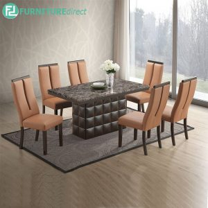 KINGSTON marble dining set 6 seater set
