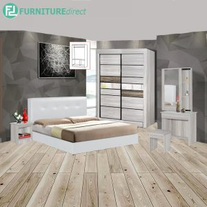 ANOLMOUTH piece queen size bedroom set-white
