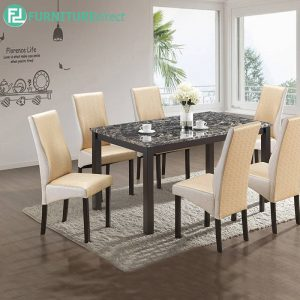 CROWITH marble dining set 6 seater set