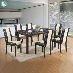 BROGELIN marble dining set 6 seater set