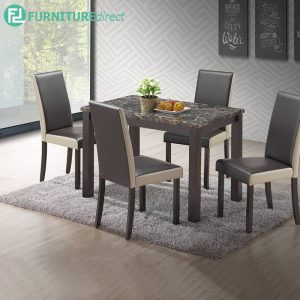 VENTBE marble dining set 4 seater set