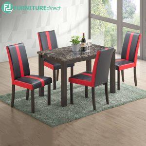 REDDWIT marble dining set 4 seater set