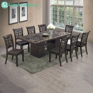 GINCHE marble dining set 8 seater set