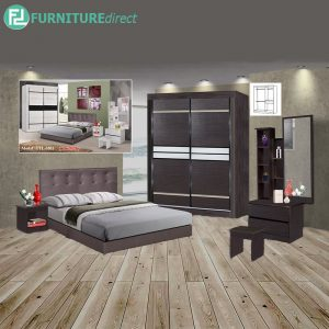 TURETION 5 piece queen size bedroom set-wenge