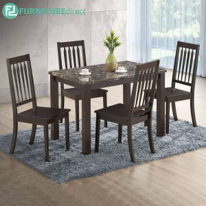 GATEWED marble dining set 4 seater set
