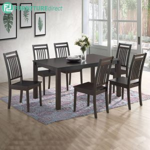 CASTNAW marble dining set 6 seater set