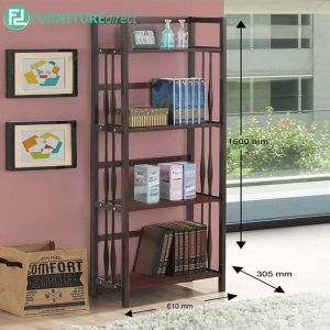 BERTOWN bookcase walnut