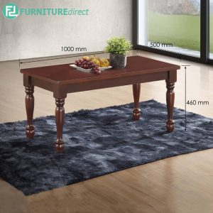 KIRCHARD 100cm solid wood coffee table-brown
