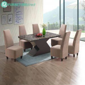 PERTHNGA marble dining set 6 seater set