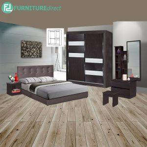 EAUWICK piece queen size bedroom set-wenge