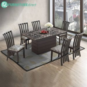 GRANDLE marble dining set 6 seater set