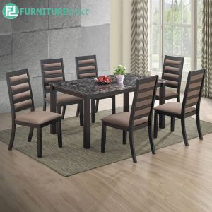 GRANWEST marble dining set 6 seater set