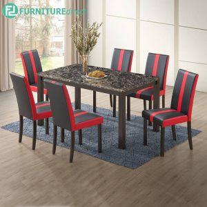 REDDWIT marble dining set 6 seater set