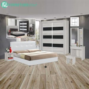 VELAVILLE piece queen size bedroom set-white