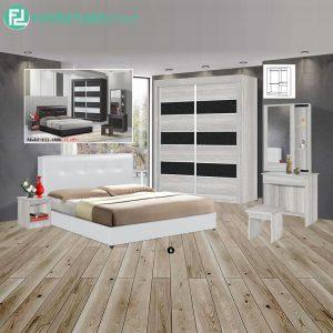 VELAVILLE piece queen size bedroom set-white
