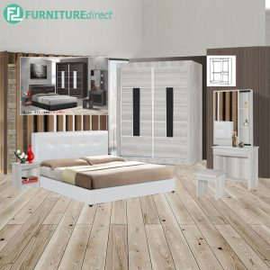 DAMTHILL piece queen size bedroom set-white