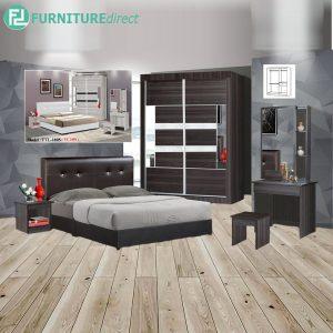 KENGATE piece queen size bedroom set-wenge