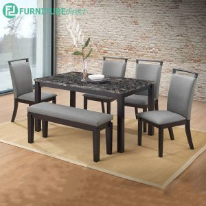 BROUGHOLD marble dining set 6 seater set
